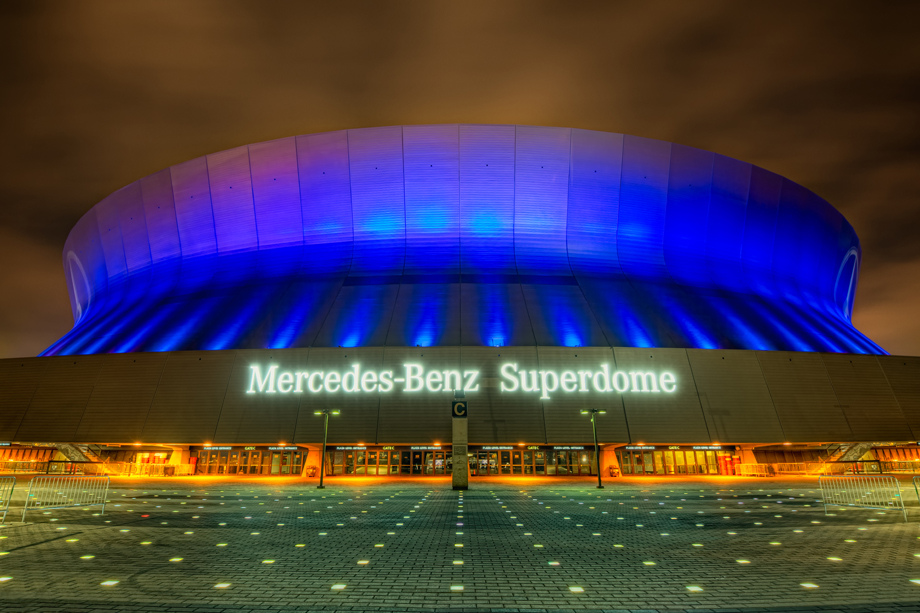 Mercedes benz superdome info stades for Mercedes benz superdome new orleans la